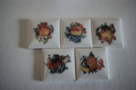 Set of 5 Fruit Tiles
